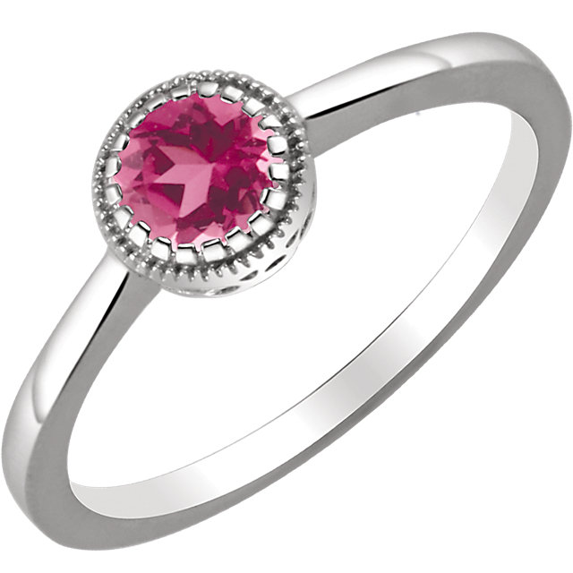 Low Price on Quality 14 KT White Gold Pink Tourmaline