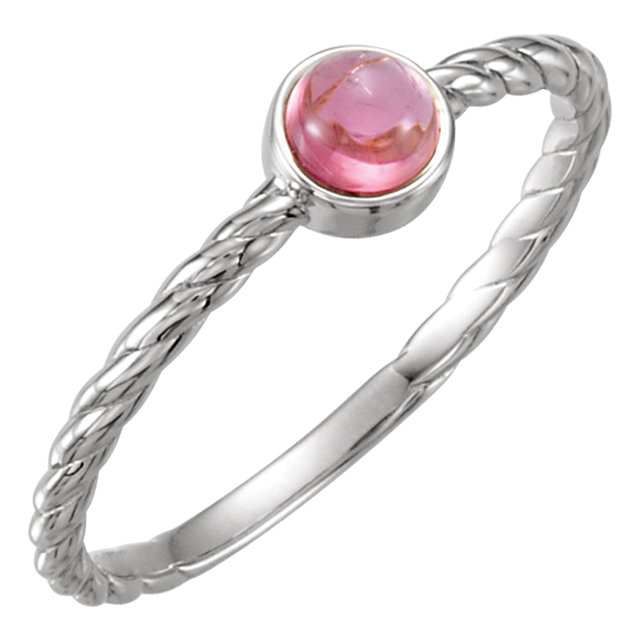 Great Deal in 14 Karat White Gold Pink Tourmaline Ring