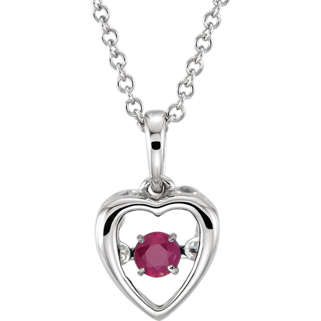 14KT White Gold Ruby 18
