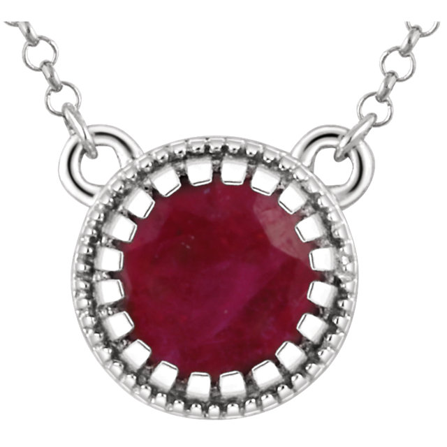 Surprise Her with  14 Karat White Gold Ruby