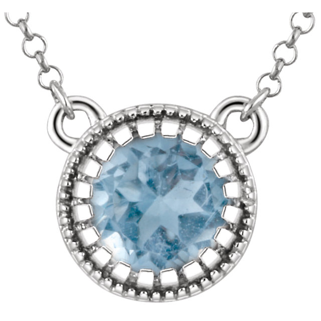 Perfect Gift Idea in 14 Karat White Gold Swiss Blue Topaz