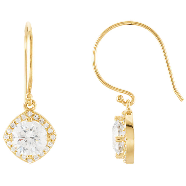 Must See 14 KT Yellow Gold 2 0.20 Carat TW Diamond Earrings