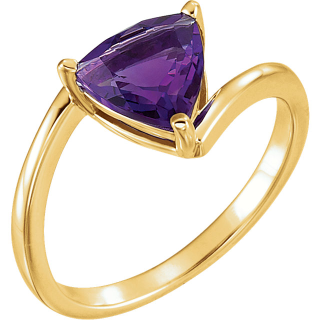 Surprise Her with  14 Karat Yellow Gold Amethyst Ring