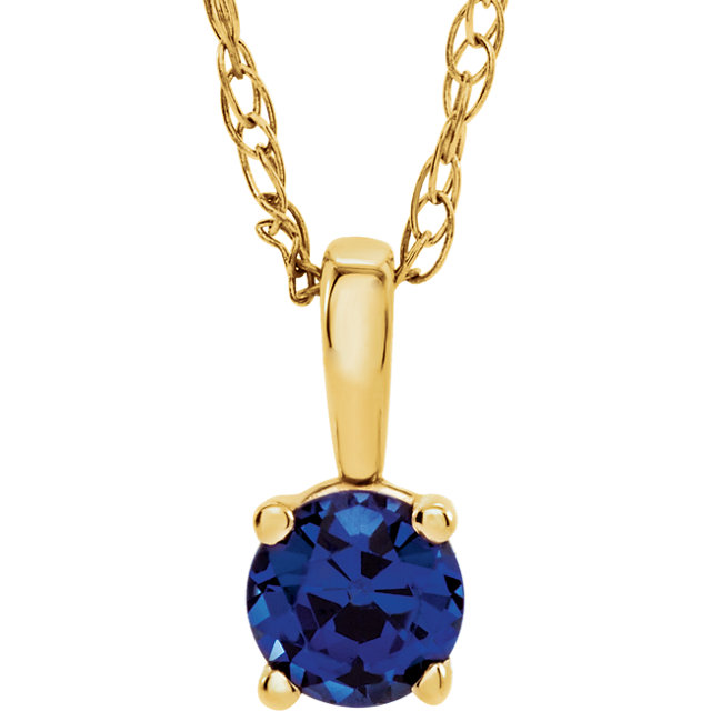 Contemporary 14 Karat Yellow Gold Blue Sapphire