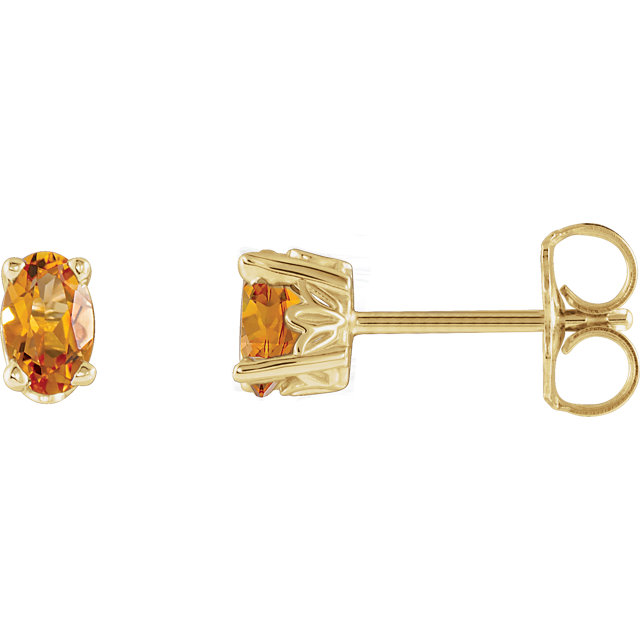 Great Deal in 14 Karat Yellow Gold Citrine Earrings