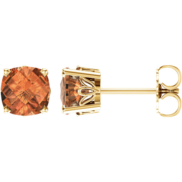 Perfect Gift Idea in 14 Karat Yellow Gold Citrine Earrings
