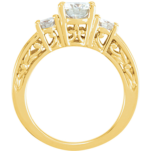 14KT Yellow Gold Forever Classic Moissanite Anniversary Band