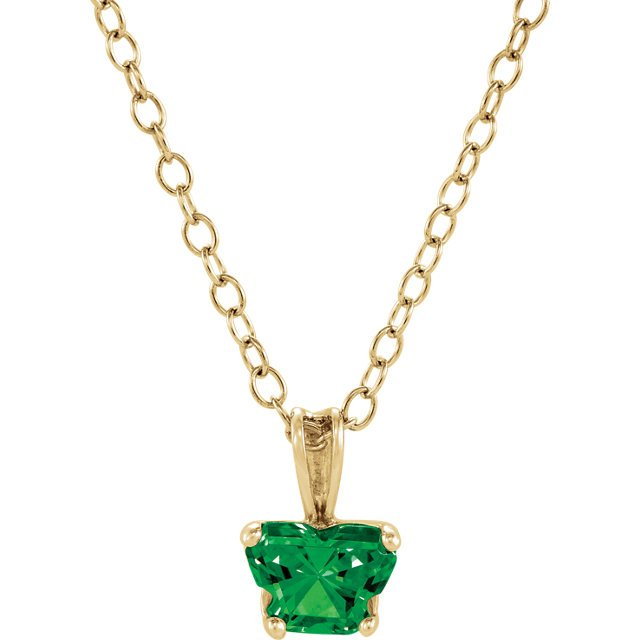 14KT Yellow Gold May Birthstone 14