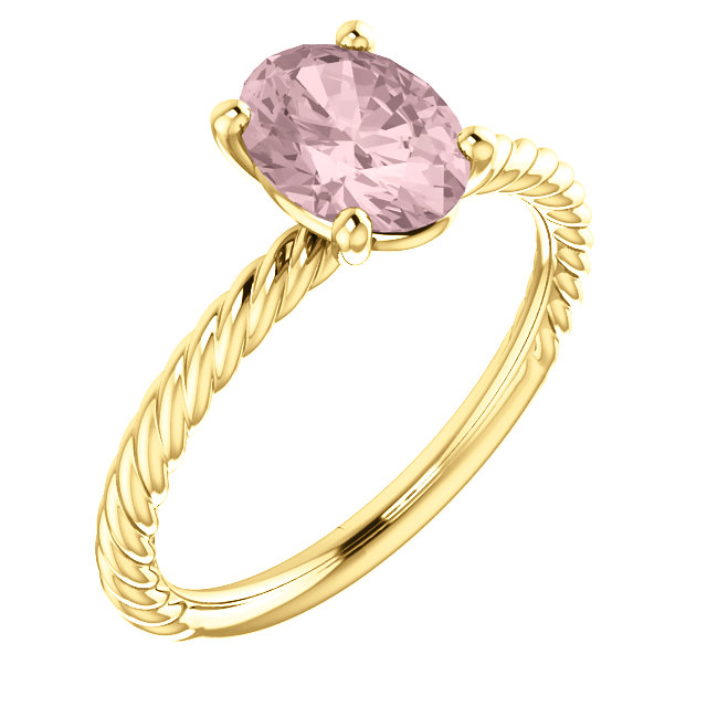 Gorgeous 14 Karat Yellow Gold Morganite Ring