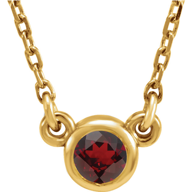 Surprise Her with  14 Karat Yellow Gold Mozambique Garnet 16