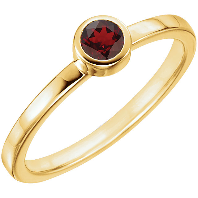 Great Deal in 14 Karat Yellow Gold Mozambique Garnet Ring