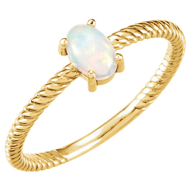 Shop 14 Karat Yellow Gold Opal Cabochon Ring