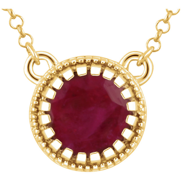 Perfect Jewelry Gift 14 Karat Yellow Gold Ruby