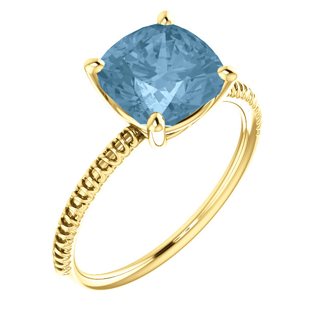 Genuine Topaz Ring in 14 Karat Yellow Gold Sky Genuine Topaz Ring