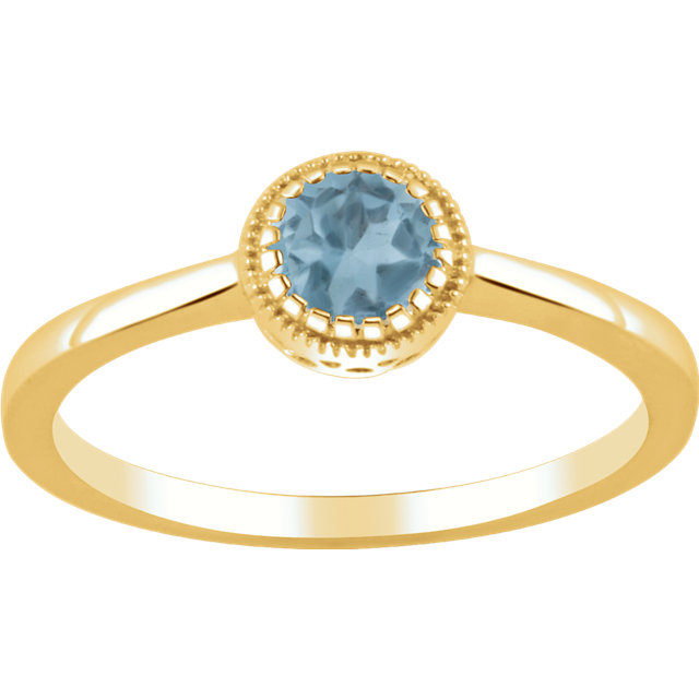 Genuine Topaz Ring in 14 Karat Yellow Gold Swiss Genuine Topaz