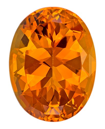 16.52 carats Citrine Loose Gemstone in Oval Cut, Orangey Golden, 19.9 x 15.2 mm
