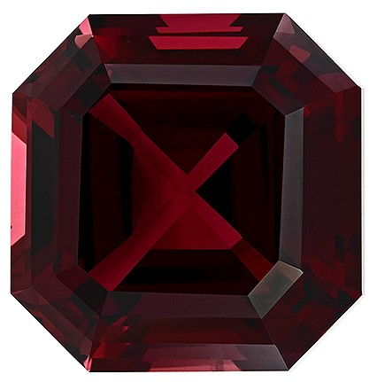 Loose Natural Red Rhodolite Garnet Faceted Gem, 17.02 carats, Emerald Cut, 14.6 mm , Great Deal on This Gem