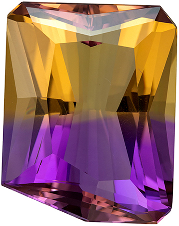 Fine Quality  17.49 carat Bicolor Ametrine Gemstone in Fancy Cut 19 x 15 mm