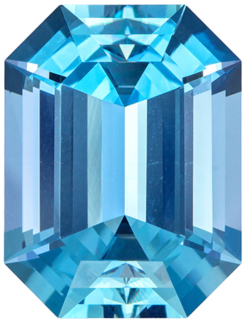 18.8 x 14.2 mm Aquamarine Genuine Gemstone Emerald Cut, Vivid Blue, 16.74 carats