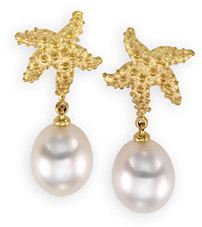 18 Karat Yellow South Sea Cultured Pearl Earrings