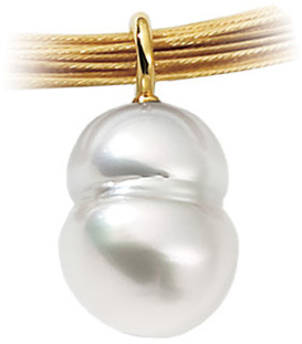 18 KT Palladium White South Sea Cultured Pearl Pendant