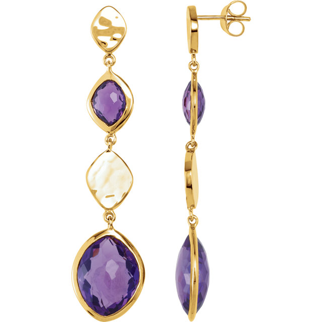 18K Vermeil Amethyst Earrings