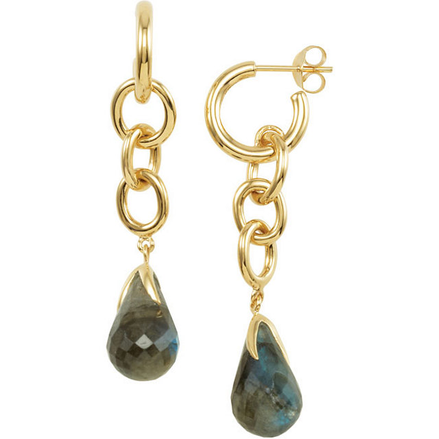 18K Vermeil Labradorite Earrings
