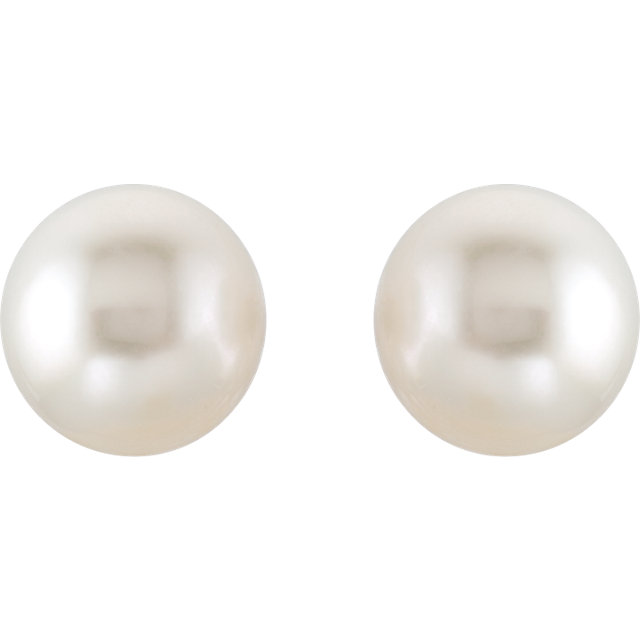 18KT Yellow 15mm South Sea Cultured Pearl Earrings