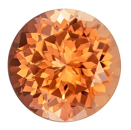 Unusual Color in 2.01 carats Peach Tourmaline Loose Gemstone in Round Cut, Rich Peach Color, 8.0 mm