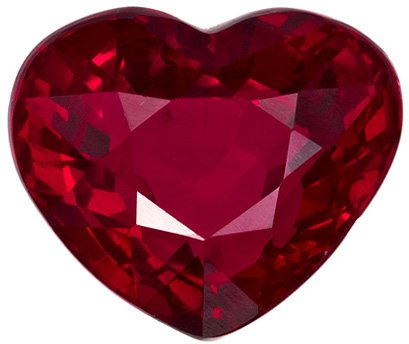 2.01 carats Rare Crystal Like Heart Cut Ruby Loose Gem, Vivid Open Red Color in 7.6 x 6.4 mm