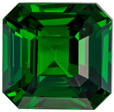 Hard to Find Tsavorite Natural Gem, 2.01 carats, Rich Grass Green, Emerald Cut, 6.9 x 6.7mm