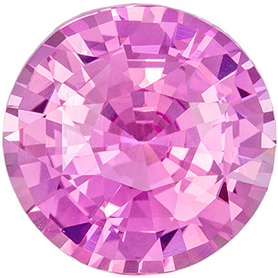 Wonderful Untreated GIA Certified Sapphire Natural Gem, 2.01 carats, Pure Baby Pink, Round Cut, 7.74 x 7.85 x 4.42 mm