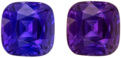 Very Desirable Untreated GIA Certified Sapphire Natural Gem, 2.01 carats, Rich Violet to Magenta Purple, Cushion Cut, 6.81 x 6.61 x 4.79 mm