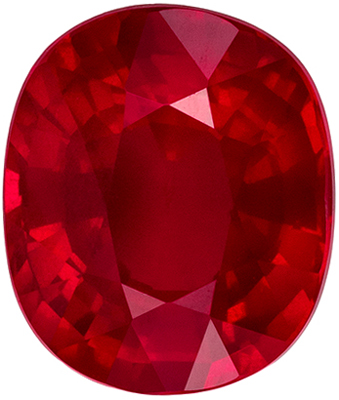 Attractive GRS Certified Ruby Natural Gem, 2.01 carats, Vivid Open Red, Oval Cut, 7.9 x 6.65 x 4.42 mm