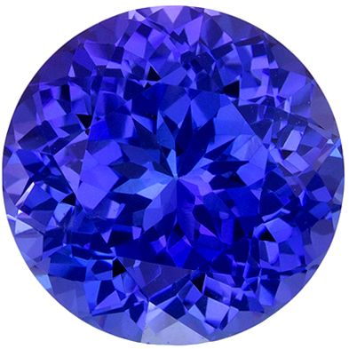 Popular 2.02 carats Blue Purple Tanzanite Round Genuine Gemstone, 7.6 mm