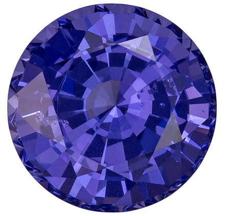 2.02 carats Purple Spinel Loose Gemstone in Round Cut, Rich Blue Purple, 7.5 mm