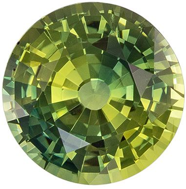 Unique Yellow - Green 2.03 carat Sapphire with GIA Cert. Unheated Round Cut, 7.38mm