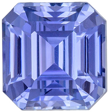 Bright & Lively No Treatment Emerald Cut Blue Sapphire Loose Gem, 6.38 x 6.19 x 4.96 mm, Cornflower Blue Color, 2.03 carats, GIA Certified