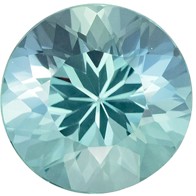 Beautiful Gem in 2.03 carat Blue Tourmaline Gemstone in Round Cut 8 mm