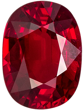 Very Attractive GRS Certified Ruby Loose Gem, 8.36 x 6.11 x 4.06 mm, Pigeons Blood Red, Oval Cut, 2.03 carats