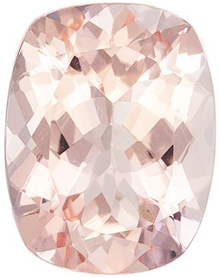 Super Fine 2.04 carats Pink Morganite Cushion Genuine Gemstone, 9.1 x 7 mm