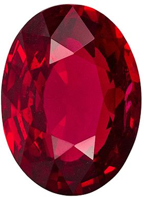 Very Special 2.04 carats Red Ruby Oval Genuine Gemstone, 8.7 x 6.5 mm