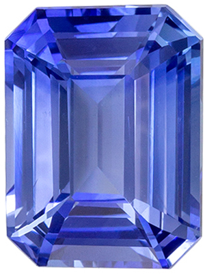 Bright & Lively Sapphire Natural Gem, 2.05 carats, Rich Cornflower Blue, Emerald Cut, 8.2 x 6.2mm