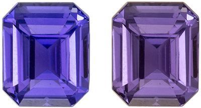 Very Desirable Unheated GIA Certified Sapphire Natural Gem, 7.41 x 6.19 x 4.27 mm, Rich Violet to Magenta Purple, Emerald Cut, 2.05 carats