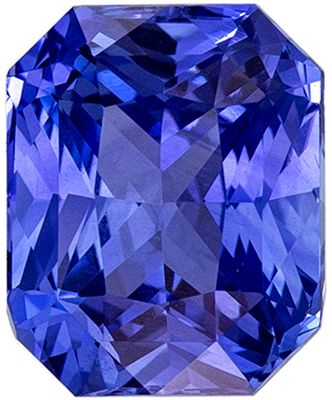 Natural Loose 2.07 carats Blue Sapphire Radiant Genuine Gemstone, 7.6 x 6.2 mm