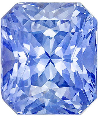 Beautiful Sapphire Natural Gem, 2.07 carats, Medium Cornflower Blue, Radiant Cut, 7 x 6mm