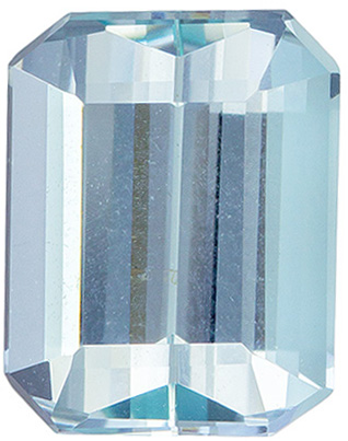 2.07 carats Aquamarine Loose Gemstone Emerald Cut, Vivid Blue, 8.9 x 6.9 mm