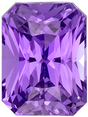 Pure Purple Color Sapphire in Fiery Radiant Cut, 2.07 carat GIA No Heat