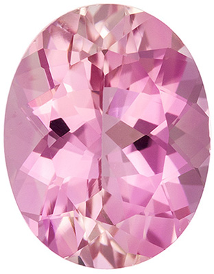 2.08 carats Pink Tourmaline Loose Gemstone in Oval Cut, Pure Pink, 9.3 x 7.3 mm