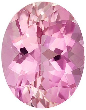 Popular Baby Pink Tourmaline Genuine Gemstone, Light Pure Pink, Oval Cut, 9.3 x 7.3 mm, 2.08 carats